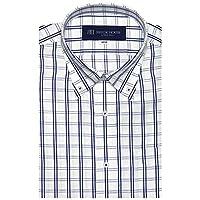 ブリックハウス ワイシャツ 半袖 形態安定 ボットーニ BD 再生ポリエステル JustStyle メンズ BM010200CP46V1U-14 ブルー LL43(半袖)