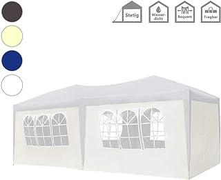 Froadp Faltpavillon 3x6m mit 6 Seitenteilen Partyzelt Sonnenschutz Pavillon UV-Schutz Wasserdicht Festzelt für Garten Party Hochzeit Picknick(Weiß)
