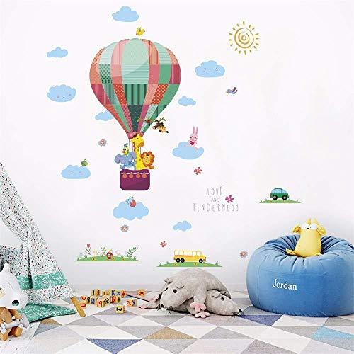 2019 Mode Gras Hot Air Ballon Kleine Dier Schilderen Thuis Slaapkamer Woonkamer Decoratie Art Muursticker Mural Wallpaper
