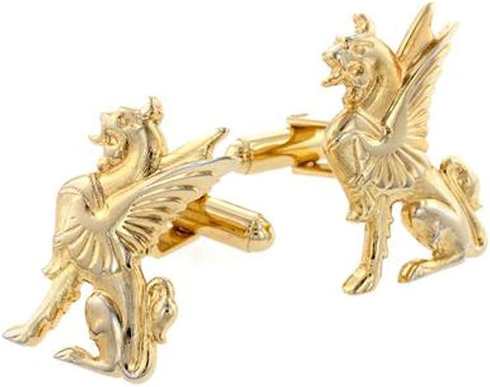 EZ Tuxedo Gold Griffin Cufflinks