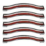 Pomos PsmGoods de tipo tirador en diamate de imitación, estilo europeo y aleaciones de zinc, para muebles, vestidores, cómodas, armarios y armarios de cocina, rojo y blanco, 128MM-5PCS