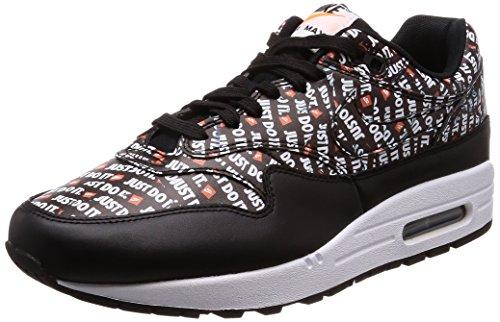 Nike Herren Air Max 1 Premium Laufschuhe, Mehrfarbig (Black/White/Total Orange 009), 42 EU