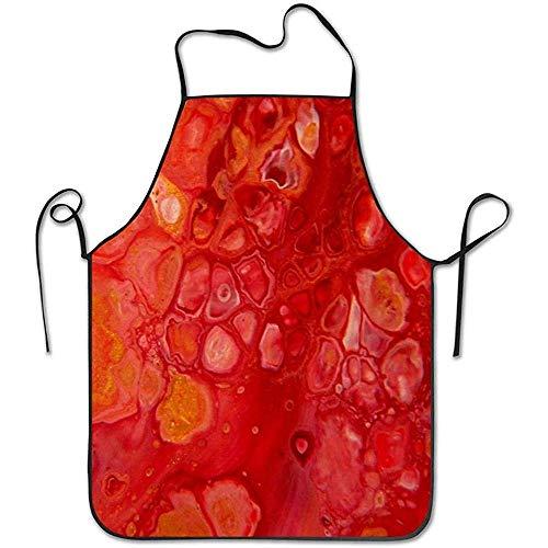 GWrix Vloeistof Natuur Rode Passie Abstract Acryl Pour Art Koken Schort Gepersonaliseerde Chef Schort Voor Vrouwen Mannen Keuken Bib Schort