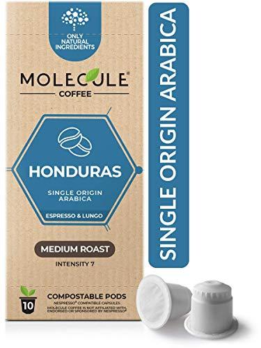 Honduras Nespresso Compatible Pods by Molecule – Medium Roast, Arabica, Single-Origin, High-Grown | Espresso & Lungo | OriginalLine | 10 Coffee Capsules