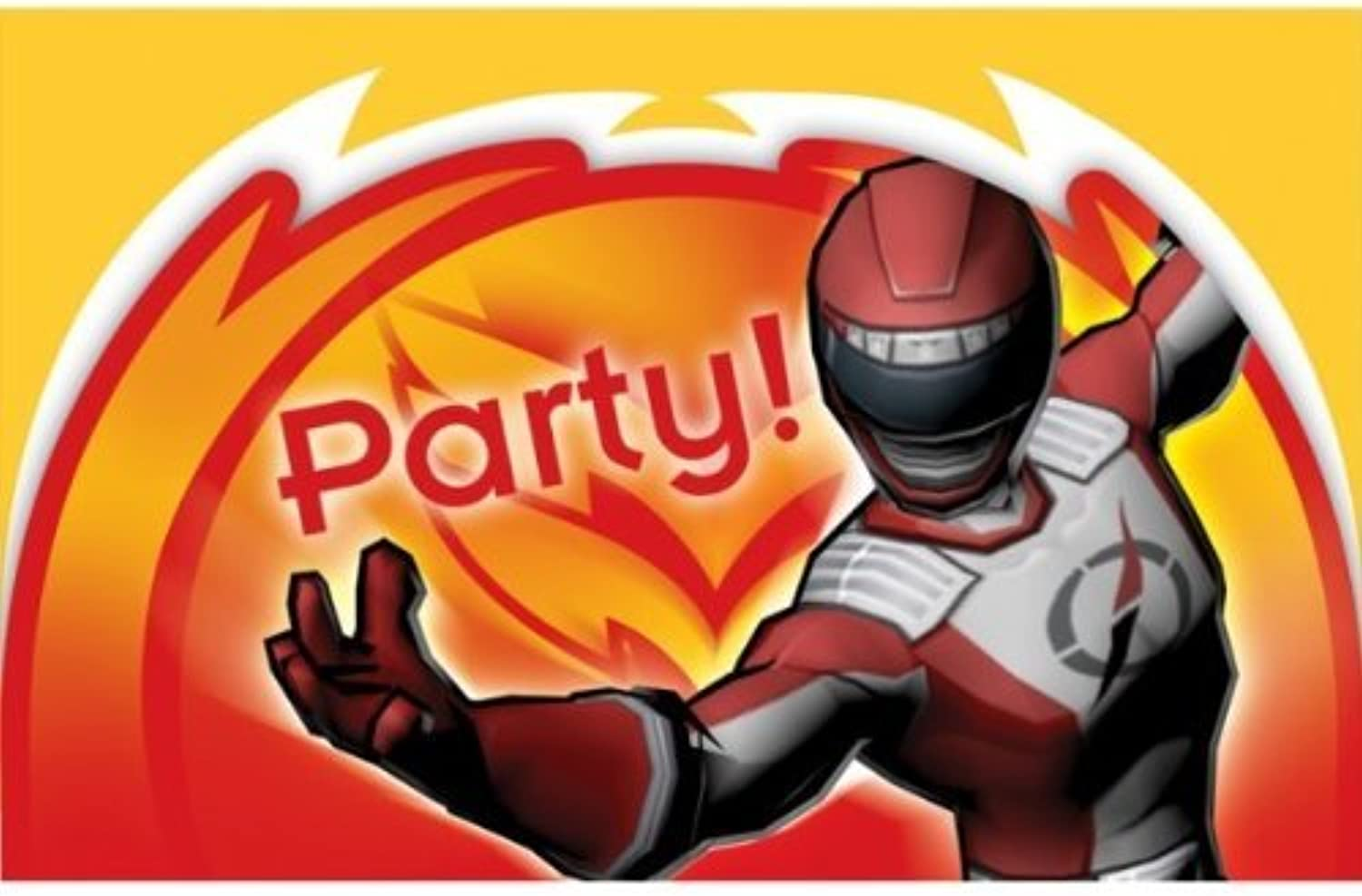 Pack of 6 Power Rangers Super Legends Invitations & Envelopes by partyman