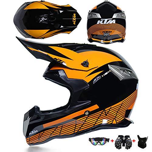 Motocross Casco integral Niño Fuera del camino Moto Conjunto de casco moto...