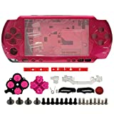 OSTENT Full Housing Shell Faceplate Case Part Replacement Compatible for Sony PSP 3000 Color Red