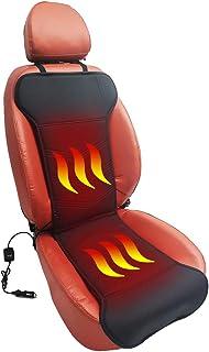 Calefacción de asiento Almohadilla automática, cubierta de asiento de auto con calefacción Calentador de asiento de auto universal con almohadilla de cuero de PU con calefacción autos camiones SUV