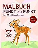 PUNT zu PUNKT Malbuch, bis 20 zählen lernen: ab 4 Jahren (4 - 9) (Turli Thu Art) (German Edition)