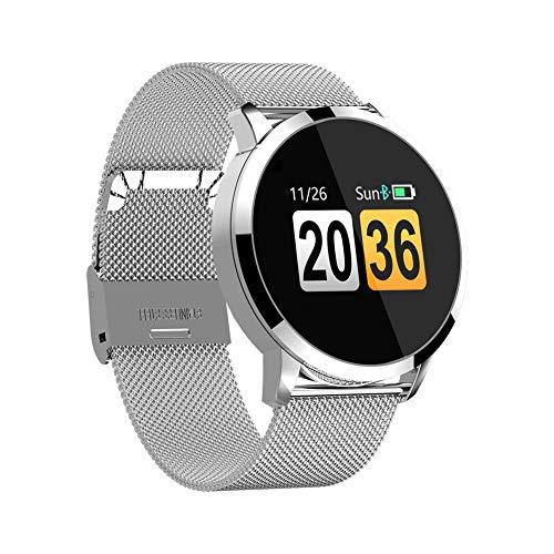 GYBN Ronde scherm touch screen smart watch, waterdichte stappenteller, telefoon informatie herinnering, armband hartslag check fitness tracker, size, 3