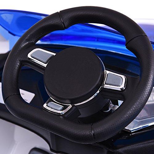 RC Auto kaufen Kinderauto Bild 6: COSTWAY 2.4G Elektroauto Kinderauto Elektrofahrzeug Kinderfahrzeug Elektro Auto Zwei Motor mit Fernbedienung und Musik (Weiß)*
