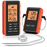 Wireless Meat Thermometer Digital Remote Cooking Thermometer BBQ Food Thermometer with Dual...