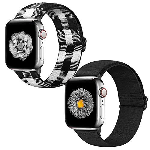 Neoxik Correas de repuesto para Apple Watch de 42 mm y 44 mm, silicona suave, repuesto para iWatch Series 6/5/4/3/2/1 (42 mm/44 mm, I+L)