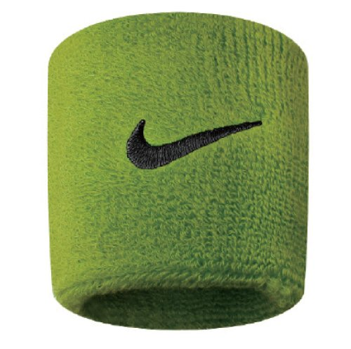 Nike Swoosh N.NN.04.710.OS - Coppia di polsini, Unisex, Verde (Atomic Green/Black)