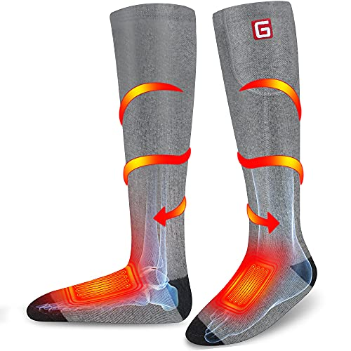 Rechargeable Heated Socks For Men Women, Electric Battery Powered With 3 Levels Setting, Cold...