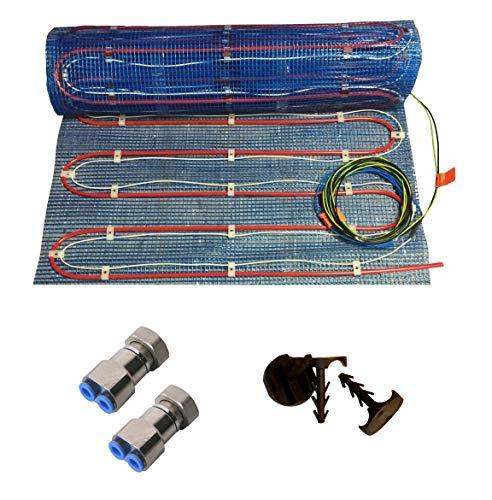 HoWaTech Variant Warmwasser & Elektro Fußbodenheizung | Set ohne Regelung, Heizfläche:2.50m²
