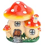 YUHT Puppenhaus D & Eacute; COR, Miniatur-Blumentöpfe Fee Puppenhaus Harz Pilz Haus Garten Ornament, DIY Spielzeug Geschenk für Kinder Mädchen