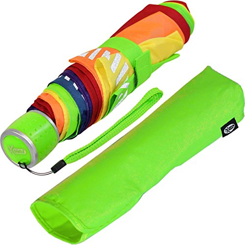 iX-brella Mini Kinderschirm Safety Reflex extra leicht - Regenbogen