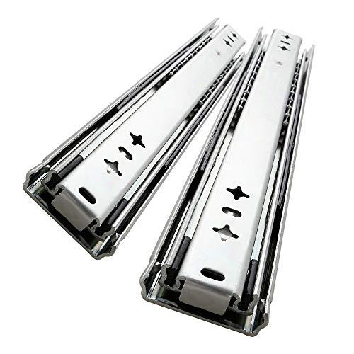 AOLISHENG 1 par (2 piezas) Deslizador de cajón de extensión completa para trabajo pesado 800 mm 80 kg Capacidad de carga Cajón Corredor Riel del cajón