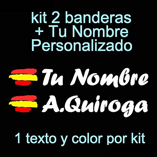 Vinilin Pegatina Vinilo Bandera España + tu Nombre - Bici, Casco ...