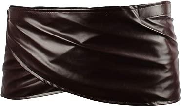 Angelaicos Unisex Short Faux Leather Brown Miniskirts