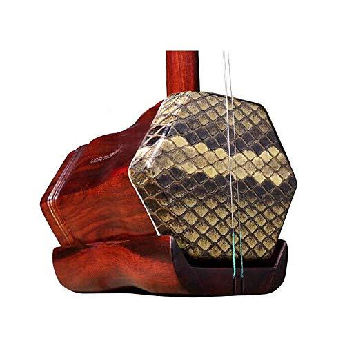 Erhu Musikinstrumente, Palisander Treasures, Erhu, Palisander handgemachte Haut Professionelle Spielen Sammler Instruments, ethnische Instrumente, Erwachsene Kinder Instruments (Größe: 83 * 13cm) HUER