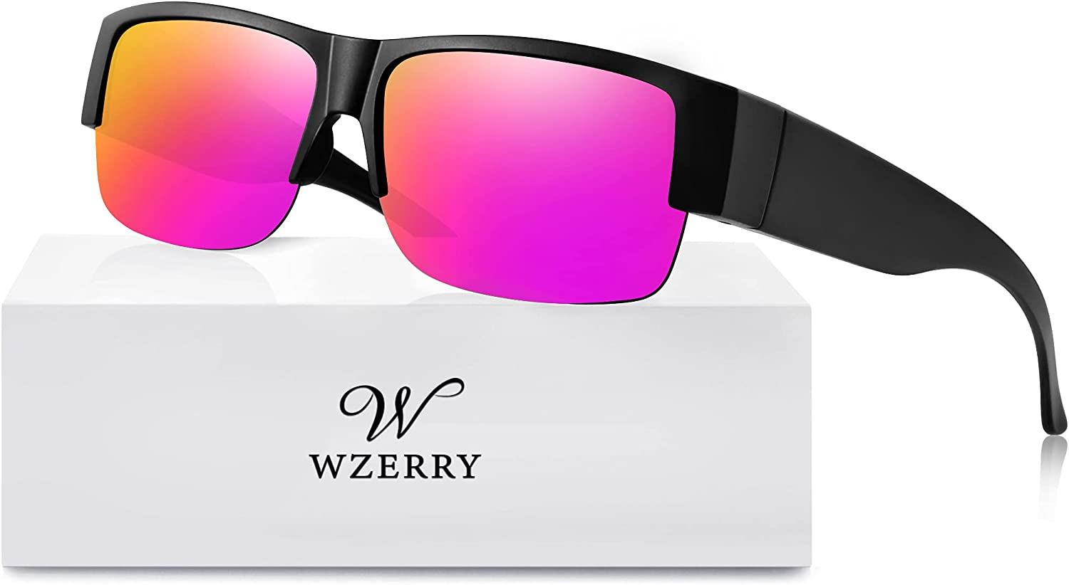 Polarized Sunglasses Fit Over Glasses Men Wide for Gifts Max 61% OFF Semi-R Women