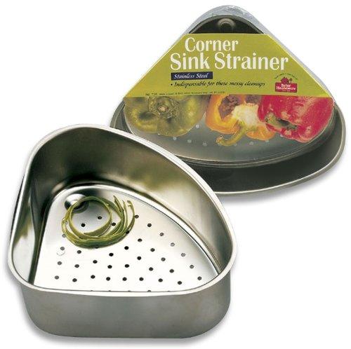 Stainless Steel Kitchen Sink Corner Drain