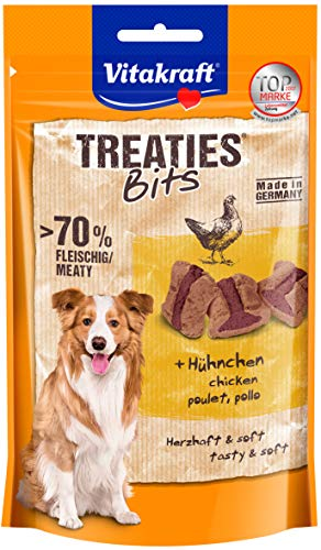 Vitakraft Hundesnack Fleischige Happen Ofengegart Treaties Bits, 120g