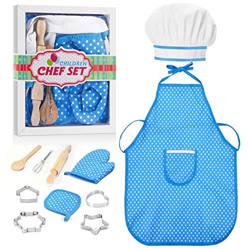 ATOPDREAM Spielzeug für Jungen 3-8 Jahre, Kochset Kinder Mädchen Geschenke 3-8 Jahre Weihnachts Geschenke für Jungs 3-8 Jahre Spielzeug 3 4 5 6 Jahre Mädchen Kinderküche Zubehör Blau