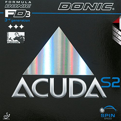 DONIC Acuda S2, TT-combinado, de nuevo, OVP, Ping Rojo rojo Talla:2,0 mm