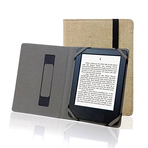 Enjoy-Unique Schutzhülle aus Naturleinen Huelle für 6 Zoll eBook Reader Universal für Sony/Kobo/Tolino/Pocketbook