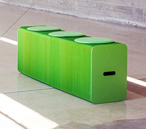 Restaurant de personnalité de la mode Tabourets simples plus de gens à la maison Café Feuilles de papier pliante vert (mat cadeau aléatoire)