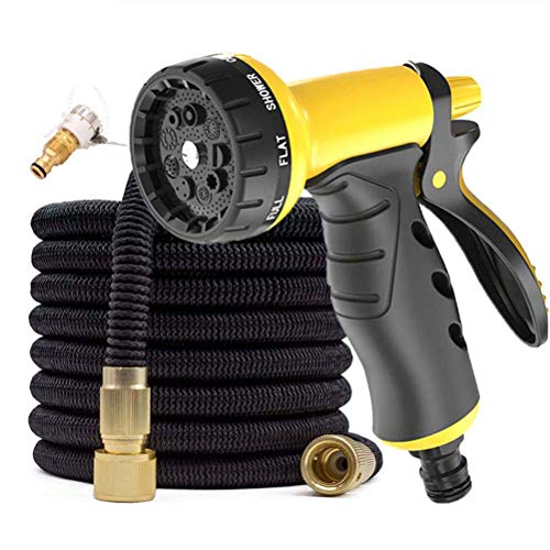 Flexible Expanding Garden Water Hose Pipe, 3 Times Expandable Watering Hose with 9 Function Spray Nozzle for Car/Pet/Lawn Washing,B,50FT