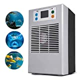 Lumemery Enfriador de Agua de Acuario Pantalla LCD Máquina de enfriamiento Industrial con Bomba para Planta de Agua Dulce Enfriador de Tanque hidropónico