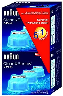Braun Clean&Renew CCR5+1 Cleaning Cartridge (Pack of 6)
