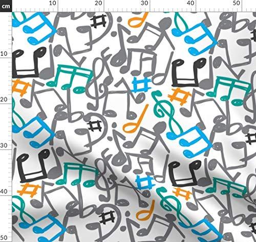 Musik, Musiker, Klavier, Notizen, Lied, Konzert Stoffe - Individuell Bedruckt von Spoonflower - Design von Mondebettina Gedruckt auf Baumwollstoff Klassik