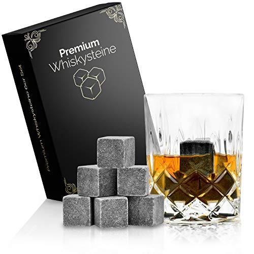 Whisky Steine | Premium Whiskey Kühl-Steine im Set | Wiederverwendbare Specksteine für Drinks Getränke Whisky Gin | Whisky-Stones ideal zur Kühlung ohne Verwässern & als Alternative zu Eiswürfel