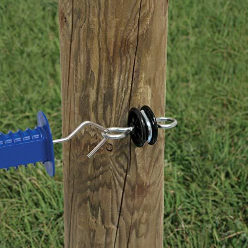 Rutland 15-136R Zaunisolator mit Schraube für Holzpfähle, 4 Stück - 2