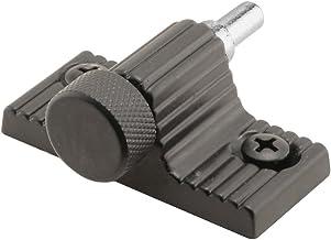 Trava de porta deslizante Defender Security S 4003. 3.5 cm Espaçamento dos furos. acabamento pintado em preto. pacote com 1