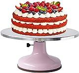 LFM Pastel Giratorio de Pastel de Aluminio aleación de Aluminio Torta giratoria Giratorio de Torta Antideslizante Soporte Giratorio Fijo Herramientas para Hornear Moldes de Anillo