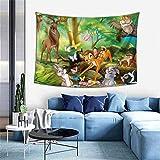 Hdadwy Bambi Tapisserie Confortable Unique tenture Murale Couverture Maison Art fête Appartement Chambre Salon tapisseries décor 60 X 40 Pouces