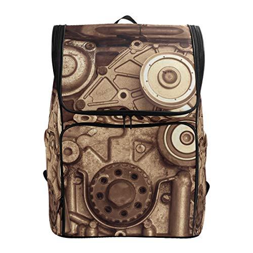 Mochila Mochila Mochila de Viaje Retro Steampunk Heavy Metal Book Bag Casual Viaje Impermeable