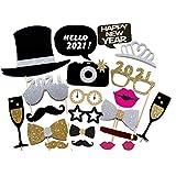 Zhijian Losuya 2021 Frohes Neues Jahr Party Photo Booth Requisiten Dekorationen, 21 Stück