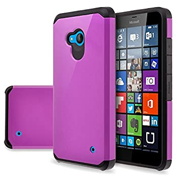 Microsoft Lumia 640  Cricket/T-Mobile  Case - Impact Resistant Hybrid Dual Layer Armor Defender Protective Case Cover for Microsoft Lumia 640 [Drop Protection/Shock-Absorption]