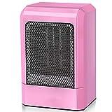 PBTRM Portátil Calefactor Eléctrico, Personal Ventilador Calefactor PTC Cerámica 500 W Protección Portátil contra Sobrecalentamiento para Hogar, Habitación, Oficina,Rosado