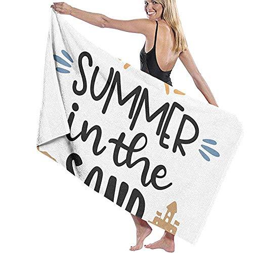 Lfff Refranes de Verano Absorbente Suave y Ligero para baño Piscina Yoga Pilates Manta de Picnic Toallas de Microfibra 80cm * 130cm