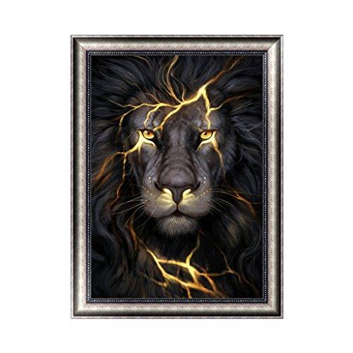 Kit de broderie diamant 5D - Lion - Décoration murale moderne