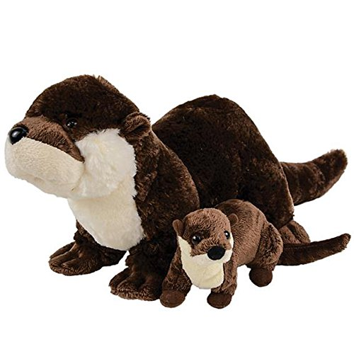 Adventure Planet Birth of Life River Otter with Baby Plush Toy 12.5' Long Without Tail