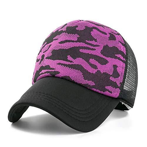 1 Uds, Gorra Unisex Informal, Gorra de béisbol de Malla Lisa, Sombreros Ajustables para Mujeres, Hombres, Gorra de Camionero de Hip Hop, Gorra de papá-Purple-54cm-60cm